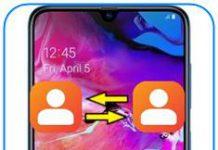 Samsung Galaxy A70 rehberi aktarma
