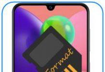 Samsung Galaxy A70s SD kart biçimlendirme