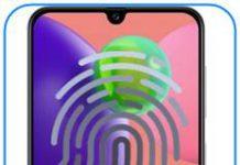 Samsung Galaxy A70s parmak izi