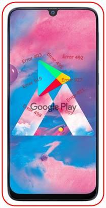 Samsung Galaxy M30 Google Play hataları