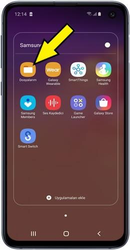 Samsung Dosyaları SD Karta Taşıma