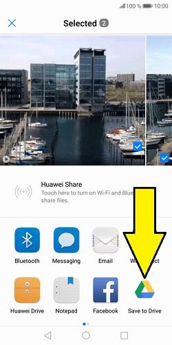 Huawei resimleri ve videoları google drive'a yedekleme