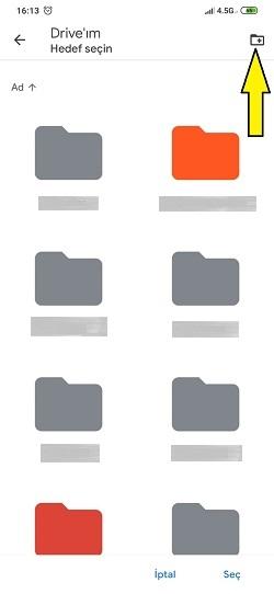 Xiaomi dosyaları Google Drive'a Yedekleme