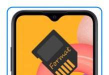 Samsung Galaxy A01 SD kart biçimlendirme