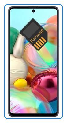 Samsung Galaxy A71 SD kart biçimlendirme