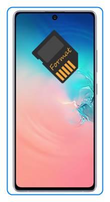 Samsung Galaxy S10 Lite SD kart biçimlendirme
