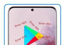 Samsung Galaxy S20 Google Play hataları
