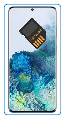 Samsung Galaxy S20 Plus SD kart biçimlendirme