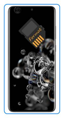 Samsung Galaxy S20 Ultra SD kart biçimlendirme