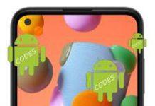 Samsung Galaxy A11 Kodlar