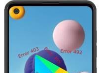 Samsung Galaxy A21 Google Play hataları