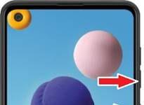 Samsung Galaxy A21 ekran görüntüsü alma