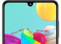 Samsung Galaxy A41 Google Play hataları