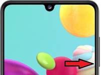 Samsung Galaxy A41 ekran görüntüsü alma