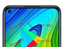 Xiaomi Redmi Note 9 Google Play hataları