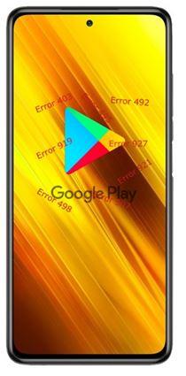 Xiaomi Poco X3 NFC Google Play hataları