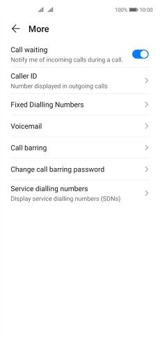 Huawei P40 lite 5G Sabit Aramayı Açma veya Kapatma